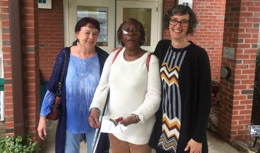 Mel visiting with friends at the Chatham County Council on Aging.