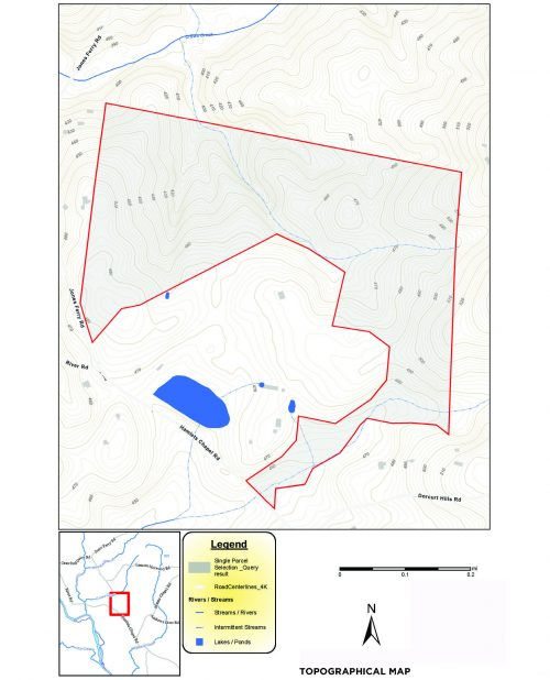 Topographic map of a property.